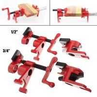1/2'' 3/4'' Inch Heavy Duty Wood Gluing Pipe Clamp Woodworking Glue Pipe Clamps Woodworking Clamp Fixture Carpenter Tools