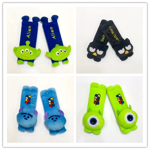 Dolls & Stuffed Toys Adroit 1pair 20cm Cartoon Mike Wazowski Sulley Monster Twins Star Frog Car Plush Safety Belt Cover Shoulder Pad Vehicle Toy Wholesale