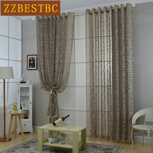 Modern simple luxury lace jacquard screens for Living Room Customizable tulle curtains for Bedroom Voile Curtain for kitchen
