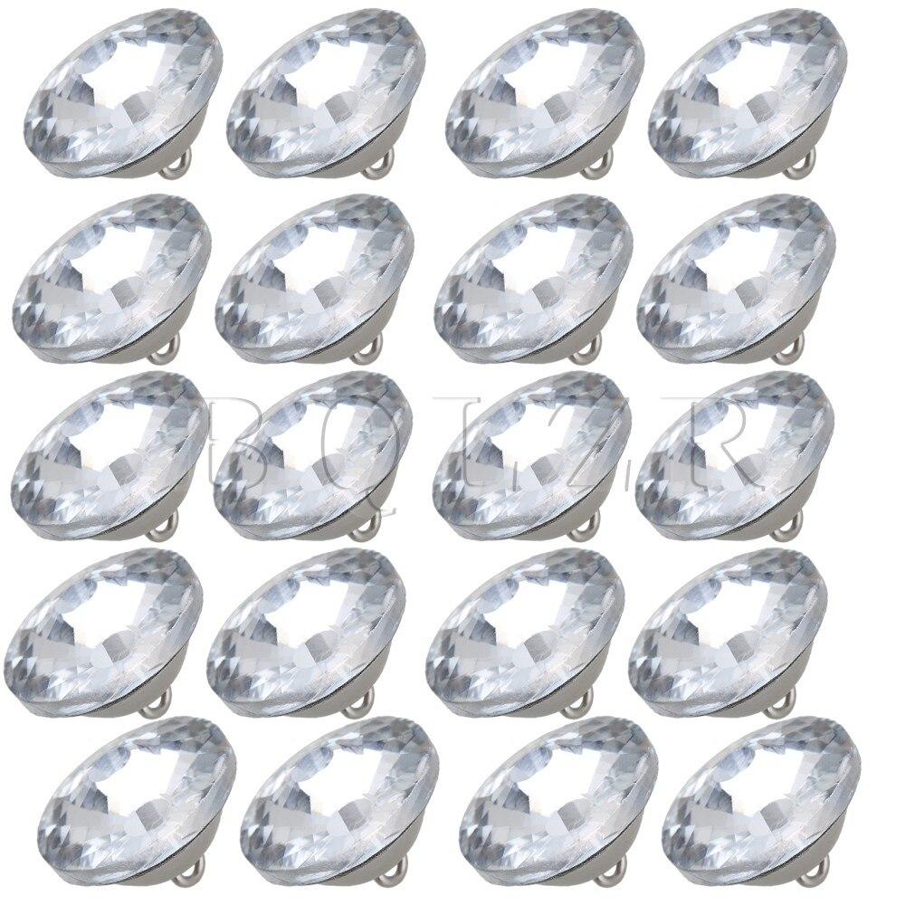 Getrouw Bqlzr 25mm Diamond Clear Crystal Zonnebloem Bekleding Sofa Hoofdeinde Sew Knoppen Pack Van 20 Een Plus Een Gratis