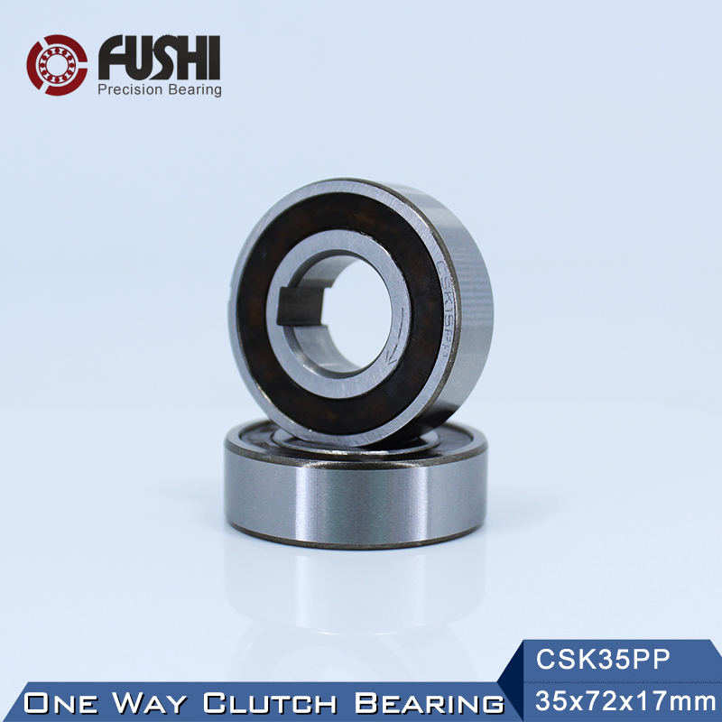 CSK35PP One Way Bearing Clutches 35*72*17mm ( 1 PC) With Keyway CSK6207PP FreeWheel Clutch Bearings CSK207PP mz15 mz17 mz20 mz30 mz35 mz40 mz45 mz50 mz60 mz70 one way clutches sprag bearings overrunning clutch cam clutch reducers clutch