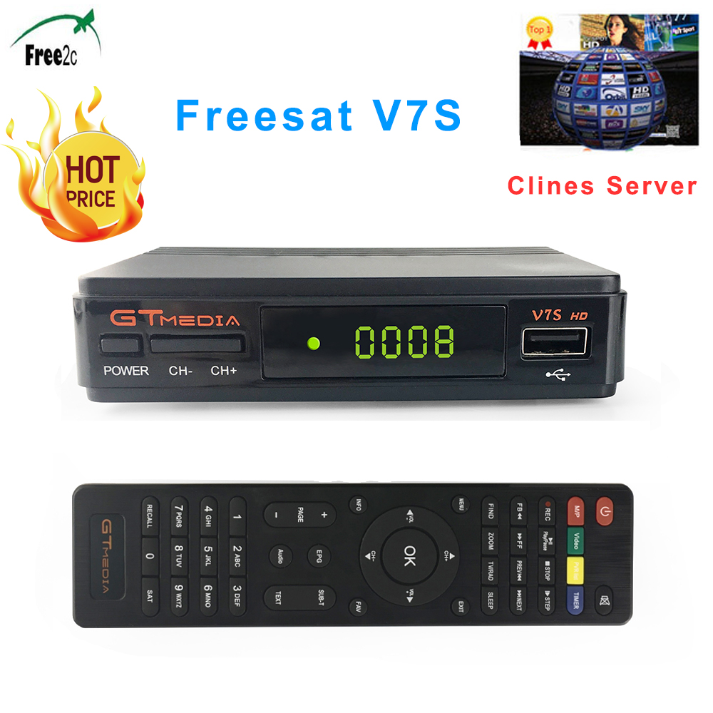 Freesat V7S HD DVB-S/S2 Satellite Receiver FTA Full HD1080P+USB WIFI support YouTube, Biss key,Clines PK FREESAT V7 HD receptor original freesat v8 super receptor dvb s2 satellite receiver upgrade a5s support powervu biss key cccamd newcamd youtube youporn
