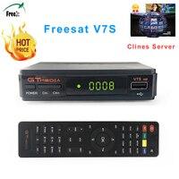 Freesat V7S HD DVB S S2 Satellite Receiver FTA Full HD1080P USB WIFI Support YouTube Biss