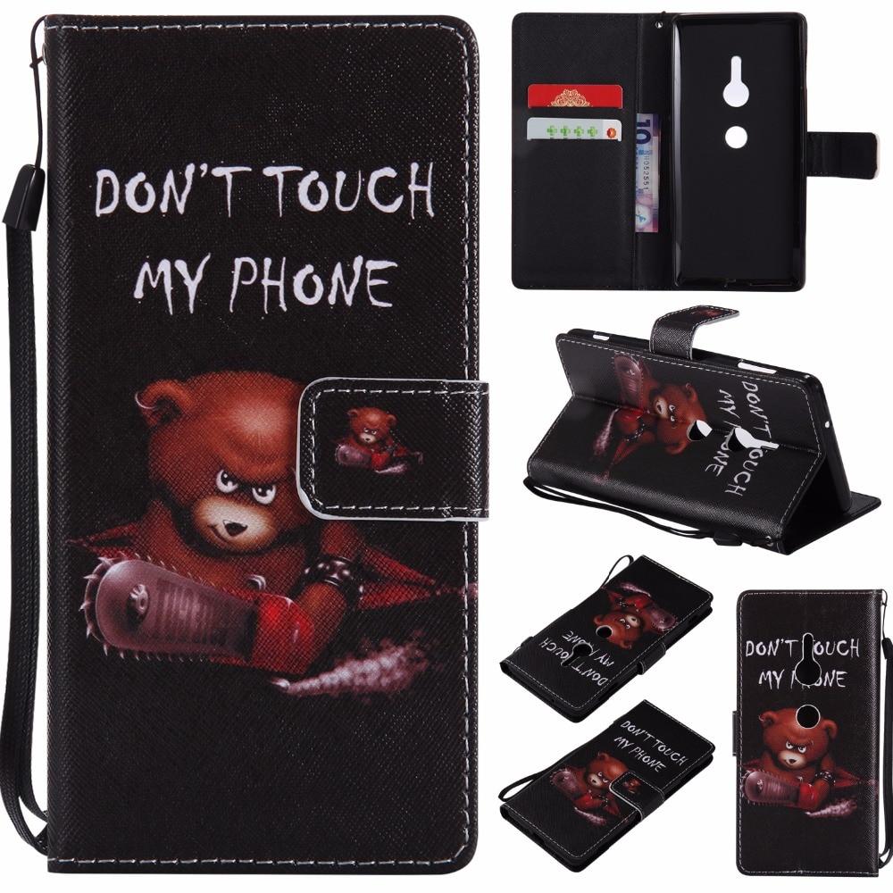 8 Kleurrijke Voor Sony Xperia Xz2 Compact Xz2 Case Pu Lederen Boekenkast Flip Cover Funda Coque Voor Sony Xz1 Compact Xz1 Telefoon Gevallen Verschillende Stijlen
