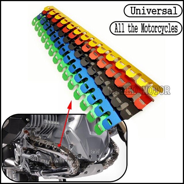 Motocicleta Universal Exhaust Muffler Heat Pipe Escudo Tampa Guard Para SUZUKI GSR750 Boulevard M109R S40 GSR750Z