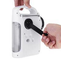 Mini AM/FM Bluetooth Solar Hand Crank Dynamo Outdoor Radio With Speaker Emergency Receiver Mobile Power Supply Flashlight Torch