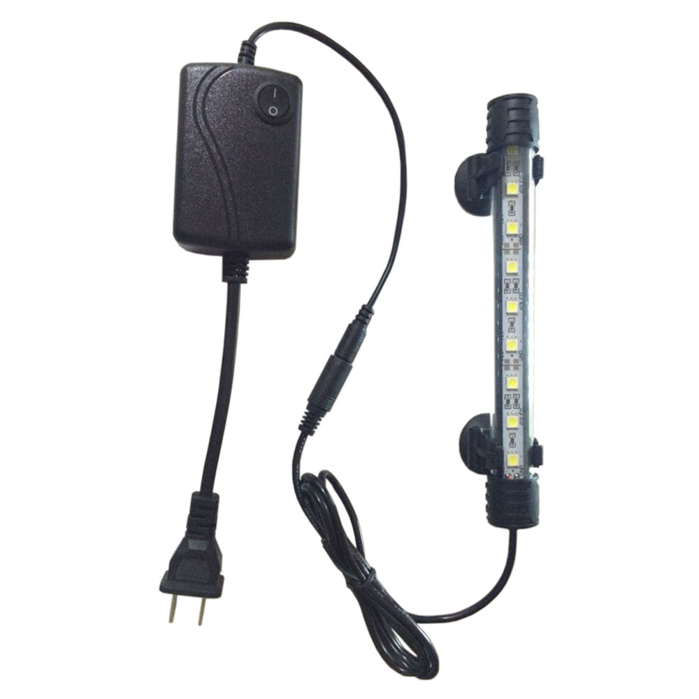 110V 240V 18cm 9LED Aquarium Fish Tank Submersible Light Strip Bar Lamp White