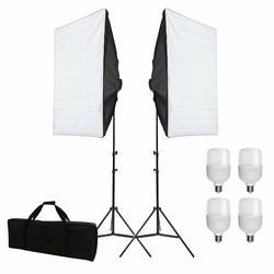 ZUOCHEN 4x25W LED Continuous Lighting Kit 20x28/50x70cm Softbox Soft Box Photo Studio Set Light