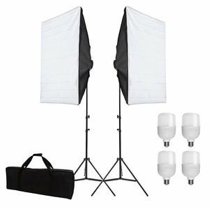 """Image 1 - ZUOCHEN 4x25W LED Kontinuierliche Beleuchtung Kit 20 """"x 28""""/50x70cm Softbox weiche Box Foto Studio Set Licht für Video Foto Schießen"""