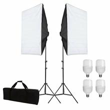 """ZUOCHEN Kit de iluminación continua LED, 4x25W, 20 """"x 28""""/50x70cm, Softbox, juego de estudio fotográfico, luz para Video sesión de fotos"""