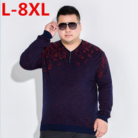 10XL 8XL 6X Pullover Men V Neck Sweater Men Long Sleeve Shirt Mens Sweaters Wool Casual