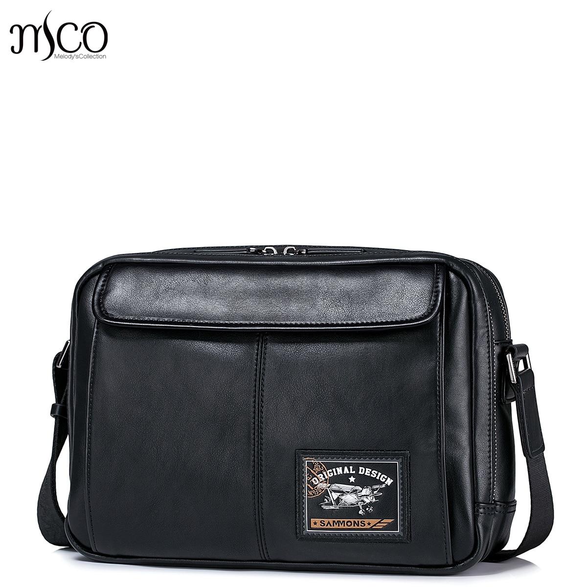ФОТО Famous Brand Men Zipper Genuine Leather Messenger Bags Business Casual Male Crossbody Shoulder Bag Satchel baguette Clutch Bags
