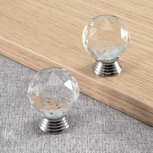kitchen door handles brushed steel diamond shape cabinet knobs and handles 30mm crystal for furniture round kitchen door drawers aliexpresscom buy
