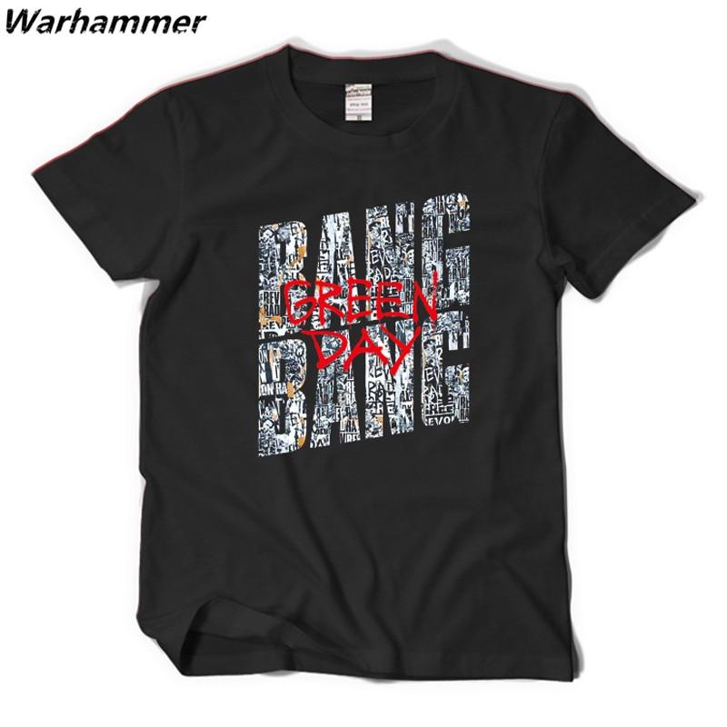 Green Day Fans New Trending Tshirt Men Bang Bang Style Punk Band Casual Fit Tee Shirt Homme Cotton Print XXL Black Camisetas Top
