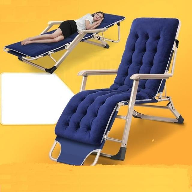 Folding Lounge Chair Lunch Break Back Lazy Beach Home Office Single Multifunctional Portable