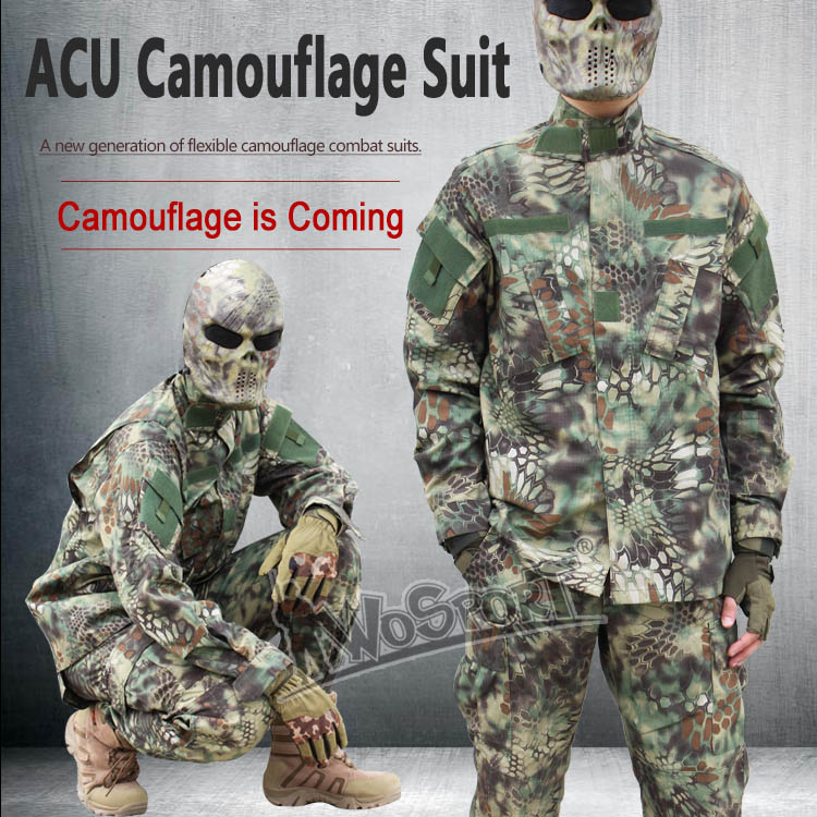 ФОТО WOSPORT Tactical ACU Camouflage Clothing Army Military Combat Highlander Airsoft Uniform Hunting Clothes