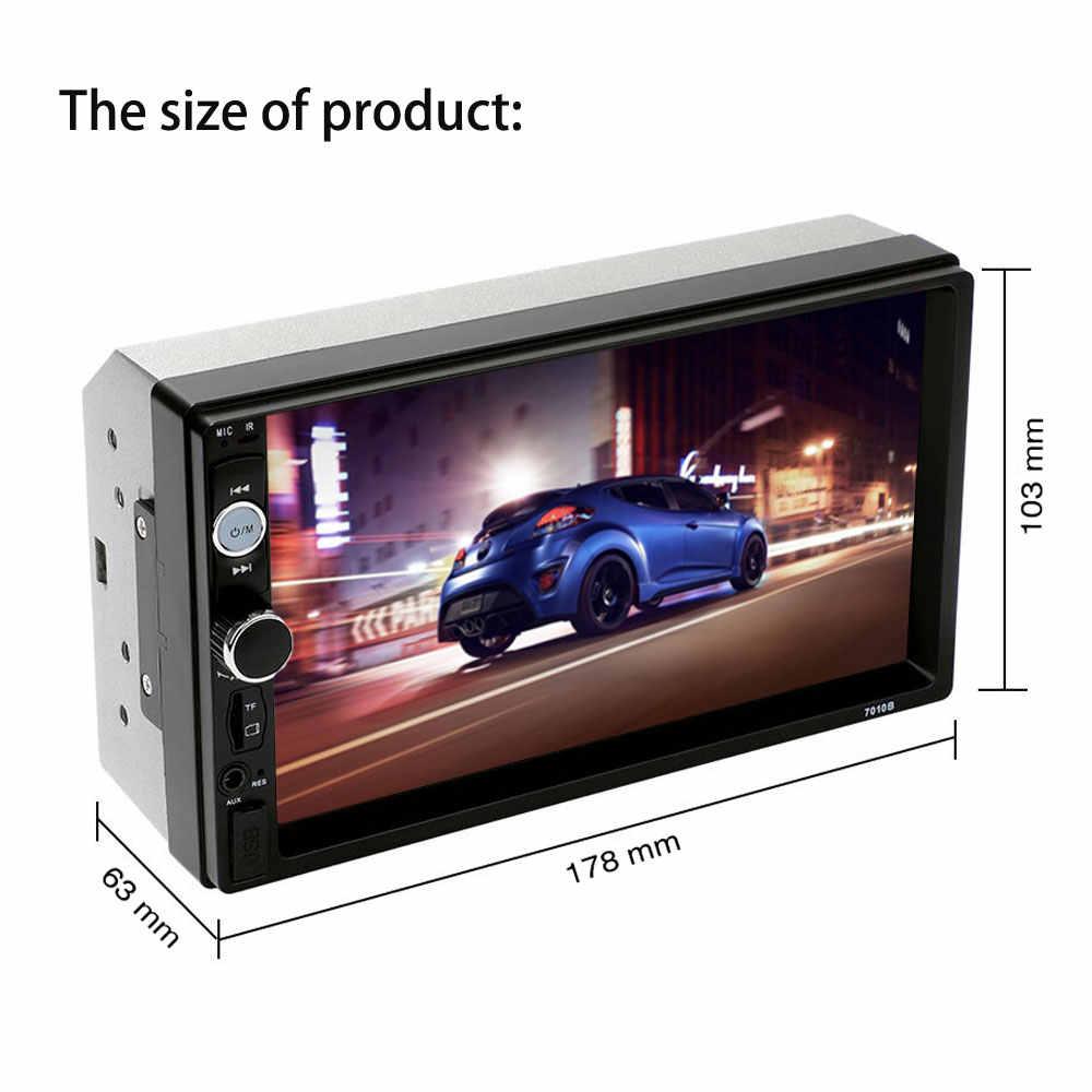 """2 Din カーラジオ Autoradio 7 """"Bluetooth ステレオマルチメディアプレーヤー 2din MP3 MP5 プレーヤーオーディオステレオミラーリンク USB SD FM"""