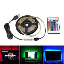 LED Light TV Backlights USB LED 5V DC RGB White /Warm White Kicthen Lamp Wall Decor cocina luces led 1M 2M 3M 4M 5M Lights(China)