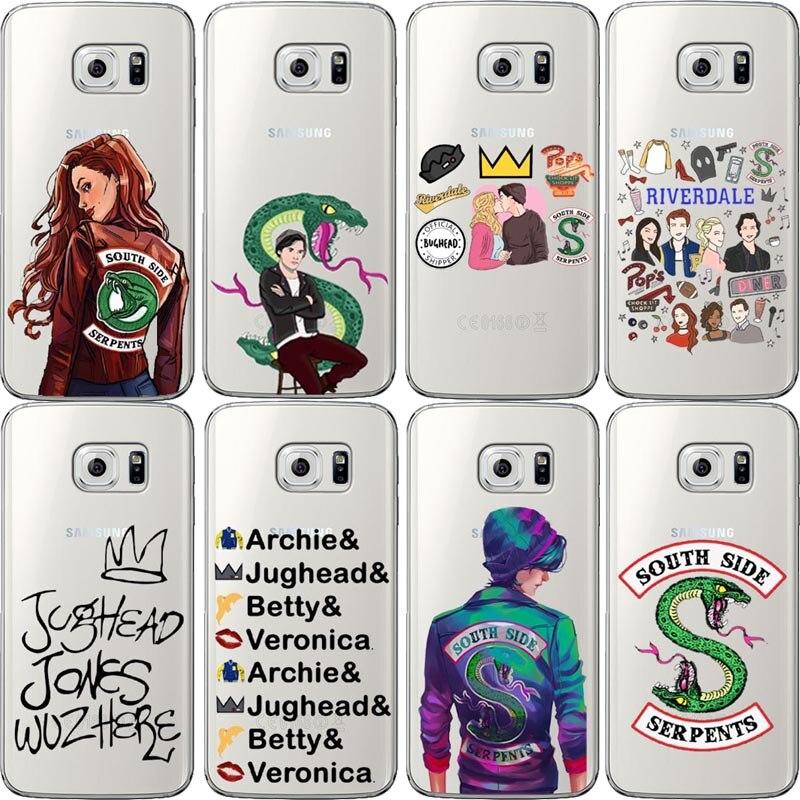 La TÉLÉVISION américaine Riverdale Jughead Jones style Silicone Téléphone étui pour samsung Galaxy S5 S6 S7 Bord S8 S9 Plus souple étui en ...