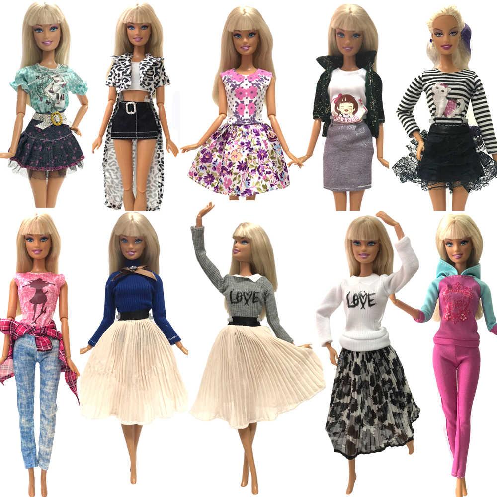 NK один комплект модная кукольная юбка красивая праздничная одежда ручной работы синее платье для куклы Барби аксессуары детские игрушки JJ
