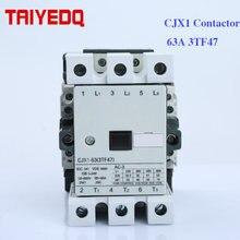 CJX1-63A contattore di CA CJX1-63/22 3TF47 Elettrico contattore magnetico 3 Poli Motore contactores 24V 220V 380V 2NO + 2NC