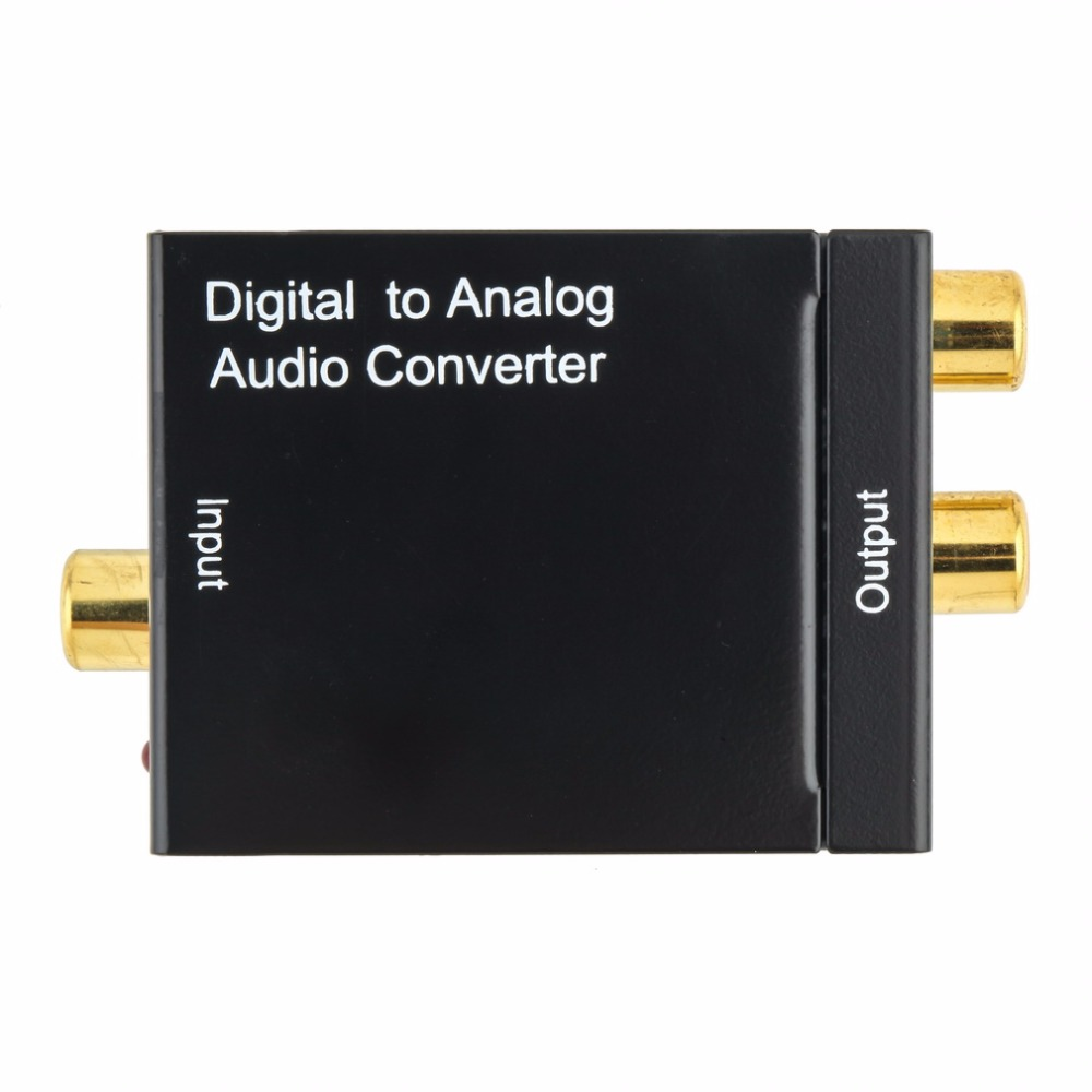 Digital Optical Coaxial Toslink Signal to Analog Audio Converter Adapter RCA Digital To Analog Audio Converter For DVD TV Theate
