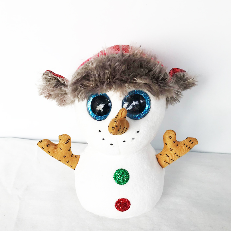 """6"""" Ty Beanie Boos Christmas Buttons the Snowman Big Eyes ..."""