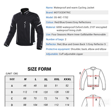 Men Motorcycle Jacket  Moto Jacket Body Armor Waterproof Riding Racing