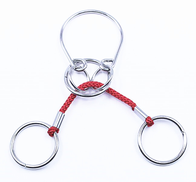 Challenging IQ Metal Puzzle Brain Teaser Wire Rope Ring Puzzles Game For Adults