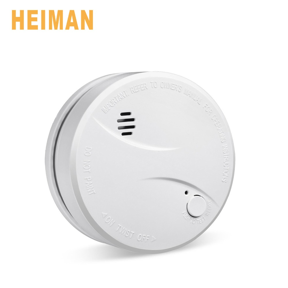 HEIMAN 10 Years Litetime Built in Lithium Battery Independent Smoke Detector Smoke Alarm Fire Alarm With Photoelectric Sensor high quality 10 years battery life stand alone fire alarm smoke alarm independent photoelectric smoke detector