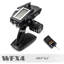 Original WFLY X4 2.4G 4CH Transmitters Gun Control WFX4 Cost-effective Remote Travel with WFR04H receiver for RC Car and Boat