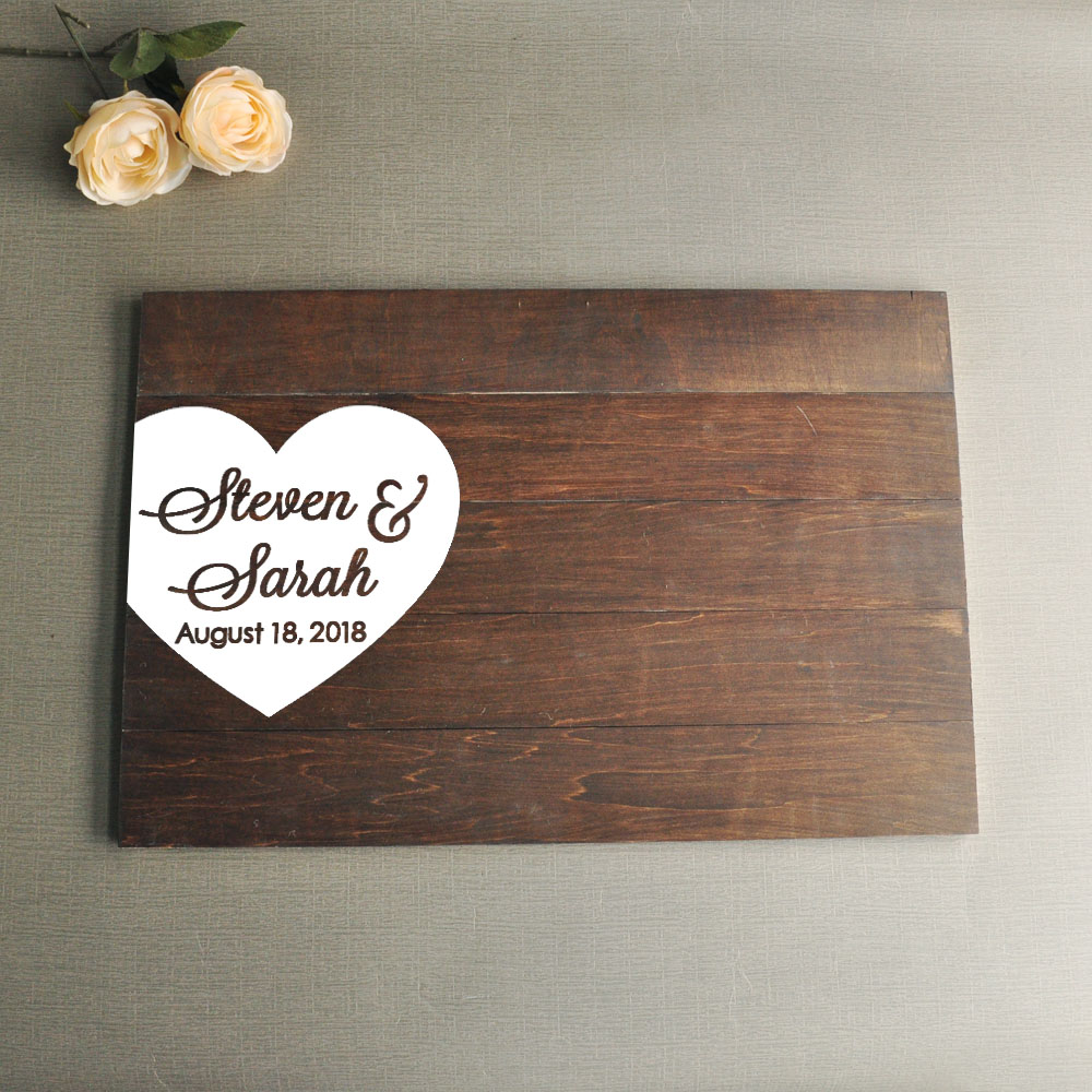 Wooden Wedding Signs.Us 39 99 Wedding Guestbook Sign Guestbook Alternative Wedding Guest Book Wooden Wedding Signs Wedding Gifts Mementos Wood Guest Book In Signature