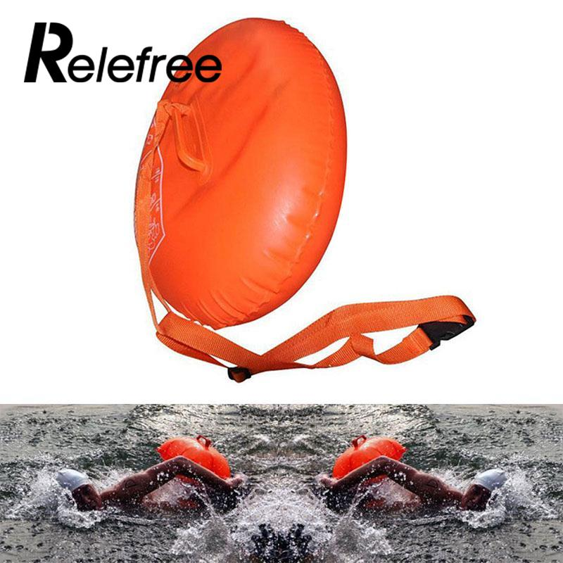 Relefree Sports Safety Swim Device Upset Inflated Buoy Flotation For Pool Open Water Sea swimming floating belt exercise swim support device inflatable safety buoy waistband for kid adult pool open water sea toy gift