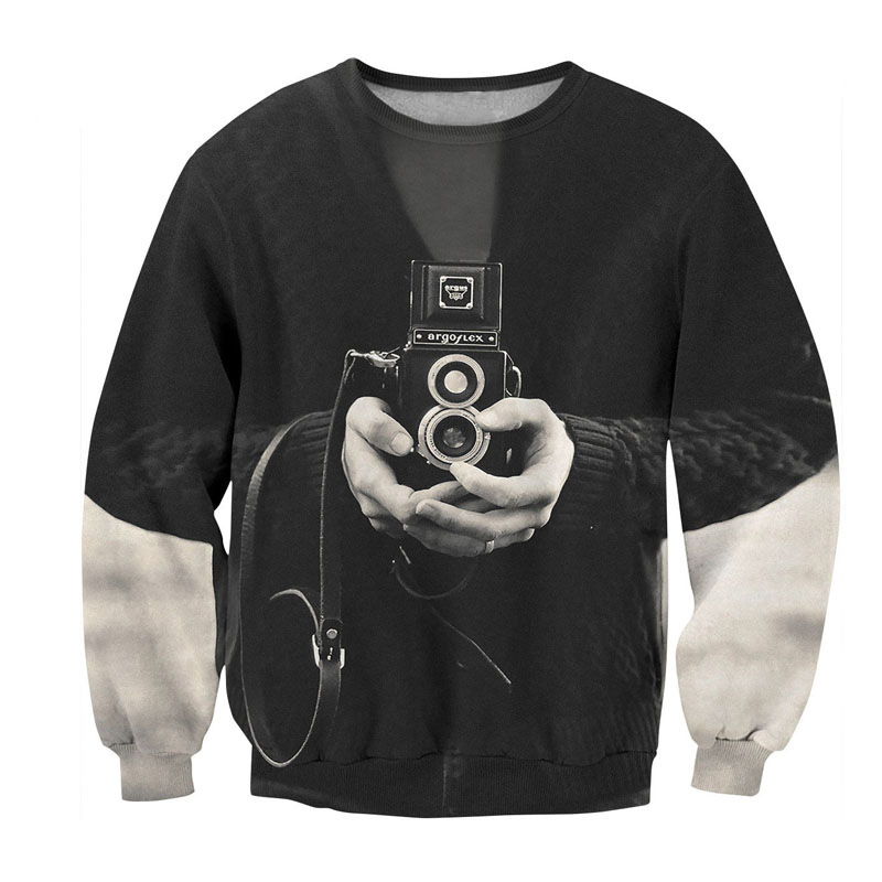 Retro Camera 3D Sweatshirt 1