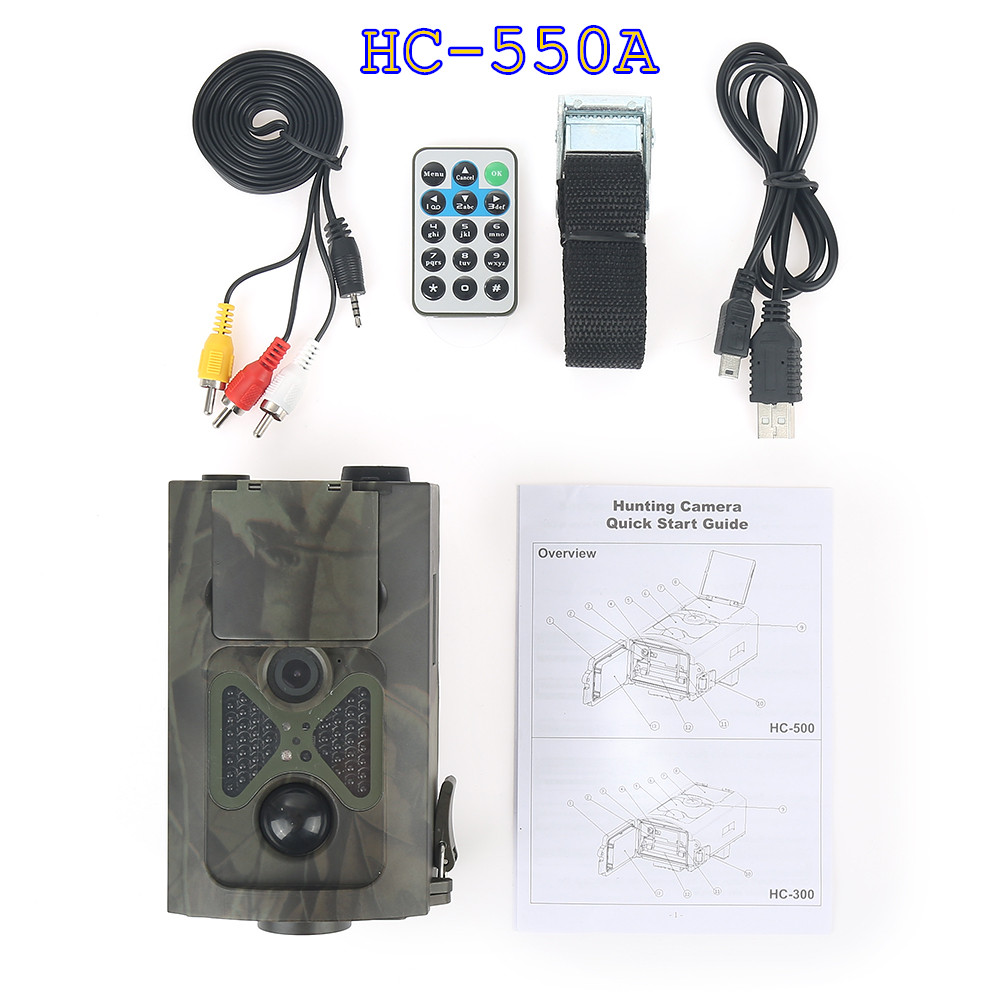 HC-550A Scouting Hunting Camera HC550A HD 1080P 16MP 120 Degrees Angle PIR Sensor Sight Trap Wildlife Game Trail Cameras