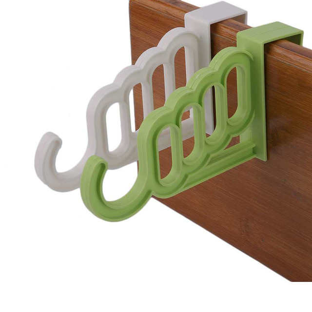 2 colores gancho puerta trasera estilo escudo hat rack multifunción ...