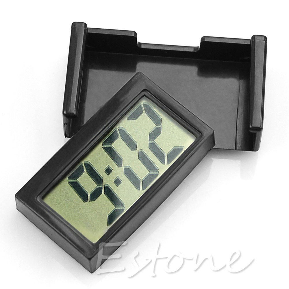 US $1 11 33% OFF|Interior Car Auto Dashboard Desk Digital Clock LCD Screen  Self Adhesive Bracket-in Timers from Tools on Aliexpress com | Alibaba
