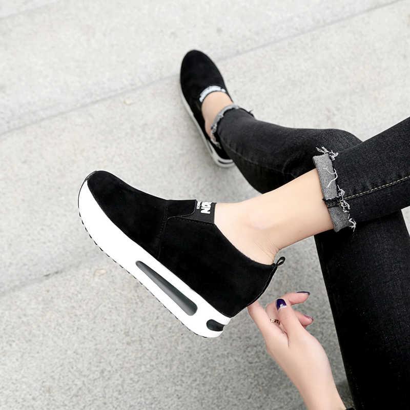 Merk wiggen schoenen voor vrouwen hoogte toenemende casual schoenen luxe schoenen vrouwen ontwerpers lederen platform sneakers vrouwen schoenen