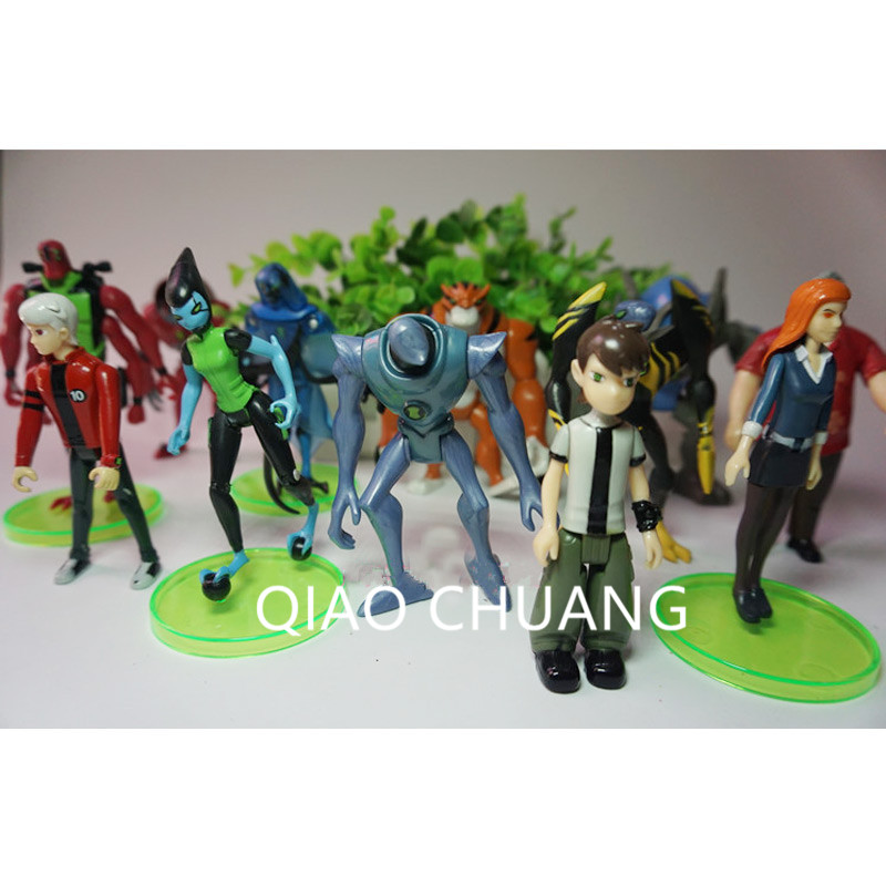12Pcs/set Cartoon Ben 10 Gwen Tennyson Grandpa Max Tennyson Ben Tennyson Four Arms Wildmutt PVC Action Figure Model Toy G503 цена