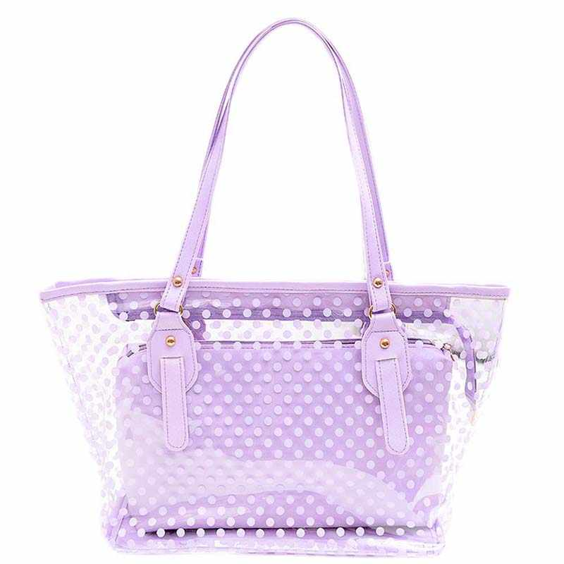 Large Transparent Tote Shoulder Bags Beach Bag Popular Style Fashion Women Candy Color Totes Clear Transparent Handbag W456