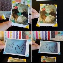 Paper-Sticker Frame Scrapbook Photo-Album Home-Decor DIY PVC New