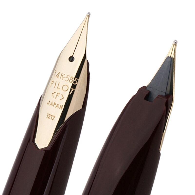 1 قطعة الطيار النخبة 95s 14k جراب قلم ذهبي EF/F/M المنقار محدودة النسخة جيب قلم حبر الشمبانيا الذهب/أسود الكمال هدية-في أقلام حبر من لوازم المكتب واللوازم المدرسية على  مجموعة 2