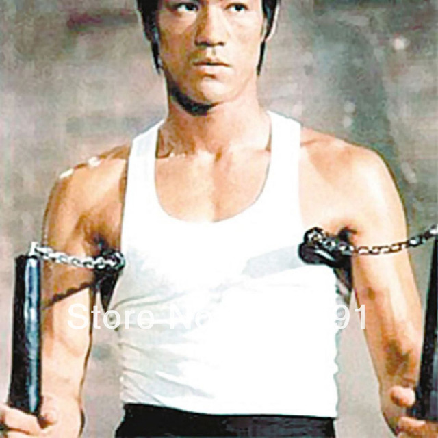 Bruce Lee Way of the Dragon Safety Nunchuck Nunchaku ...