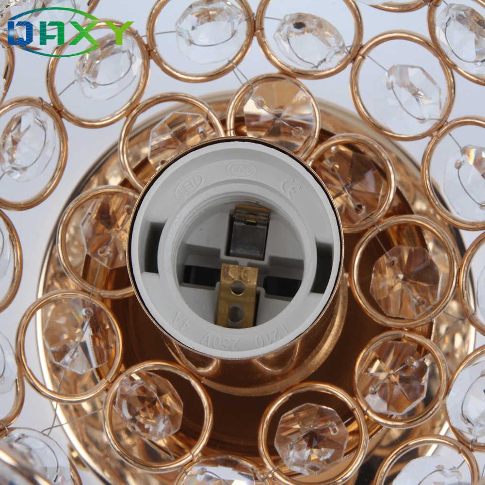 W zestawie 12w LED żarówka E27 kubek w kształcie tabeli światła z jasnego kryształu pozłacane złoty lampki nocne lampy biurko oświetlenie sypialni [T8558]