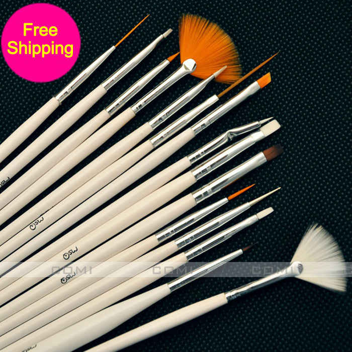 Painting Tinting Brushes Tools for Fimo Plasticine Paint Brushes Polymer Clay & Pottery Modeling Sculpture Tool Nail Art Brushes