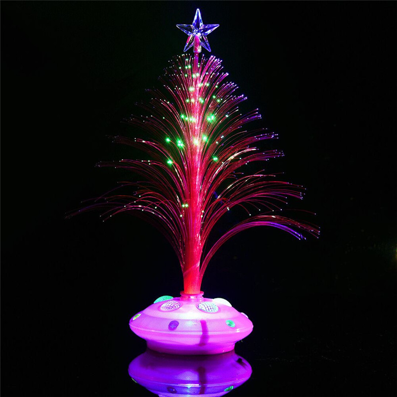 New LED Colorful Changing Mini Christmas Tree Decoration Table Party Charm Desk Decorations Gift for Home decor #4o26#f (15)