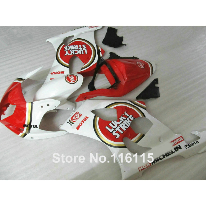 Fairing kit for SUZUKI Injection molding GSXR1000 K3 K4 2003 2004 red LUCKY STRIKE bodywork fairings set GSXR 1000 03 04 AP59 100% fit for suzuki injection molding gsxr1000 fairing kit k3 k4 2003 2004 brown black fairings set gsxr 1000 03 04 ap34