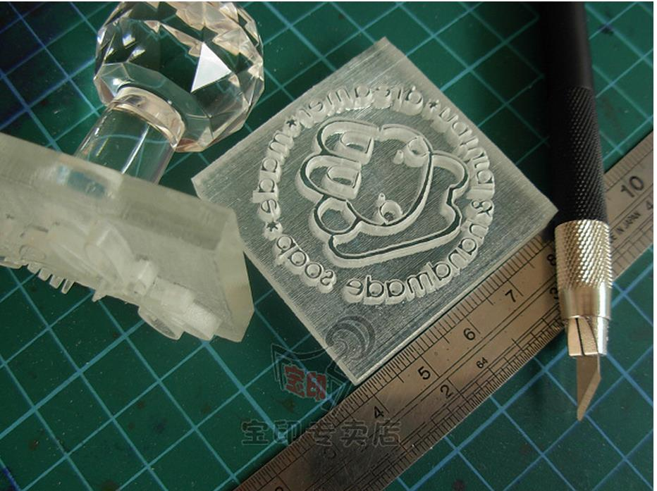 DIY Professional Custom Handmade Soap Seal Printed STAMP Can Be Mass Pattern Mini Diy Soap Stamp