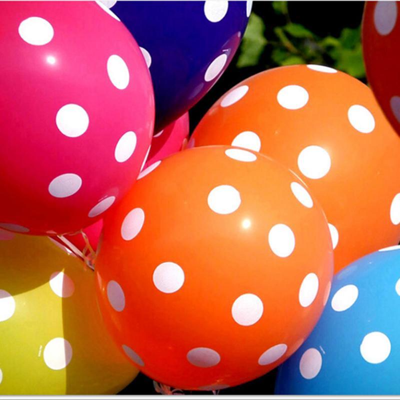 Aliexpresscom Buy Birthday Decoration Home Decor Latex Polka