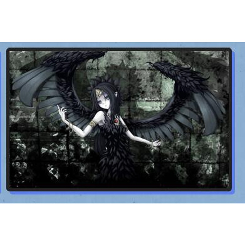 Yugioh Anime Dark Angel Fabled Grimro Playmat Board Games TCG CARDS Gaming Play Mat, Yu-gi-oh Design Table Game Pad image